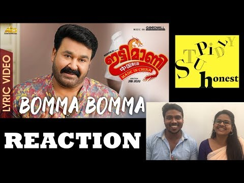 Ittymaani Made In China   Bomma Bomma Lyric Video Reaction   Mohanlal   M G Sreekumar