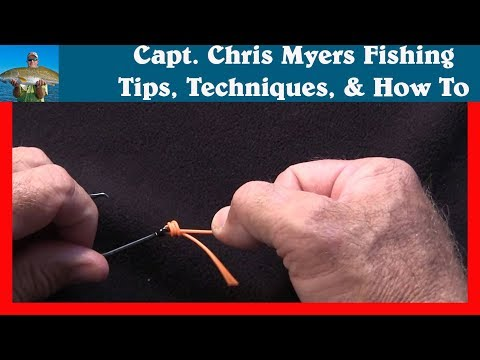 Uni Knot - How to tie a Uni Knot - Fishing Knots