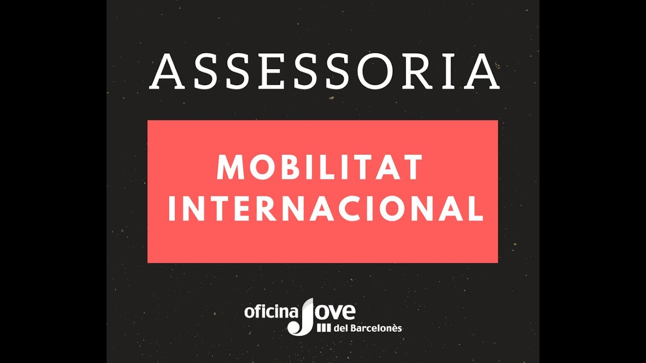 Assessoria en Mobilitat Europea per a joves   barcelonesjove net