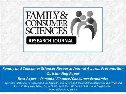 Outstanding Paper and Best Paper – Personal Finance/Consumer Economics