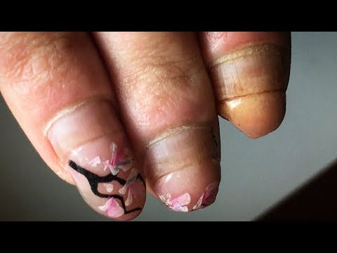 NAILART Amazing RELOAD of Her Nails Extension Beauty Vlogger Showing Nail Application Hand Painting