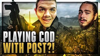 PLAYING COD WITH POST MALONE?! (Highlights)