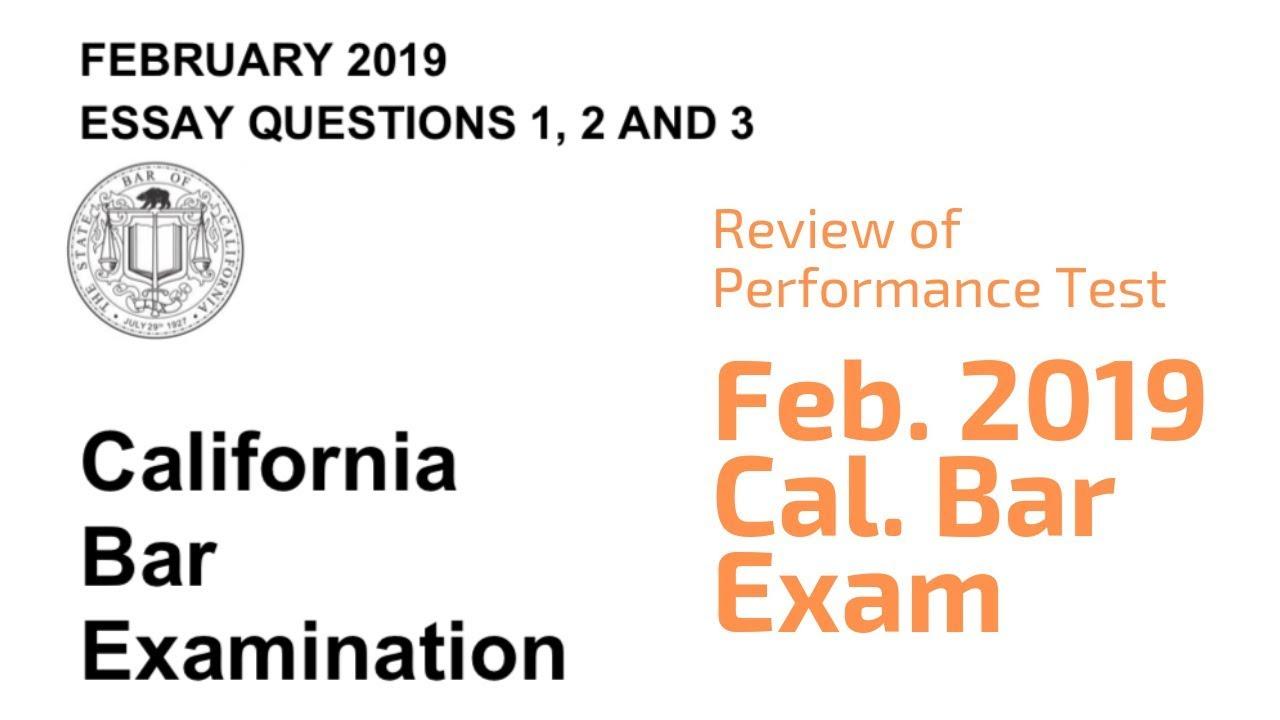 California bar essays