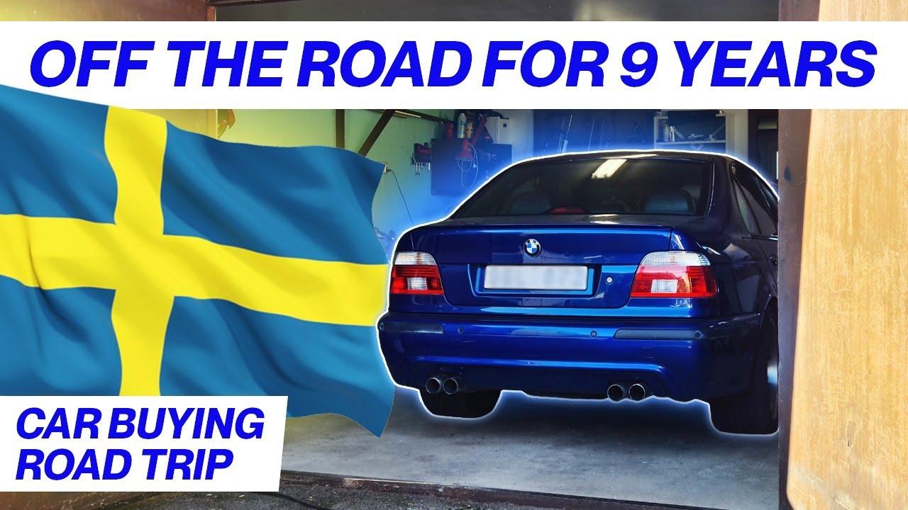 Road Trip & Garage Find V8 BMW E39 M5 - Project Skövde: Part 1