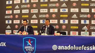 Anadolu Efes - Barcelona Lassa Playoff 5. Maç Basın Toplantısı