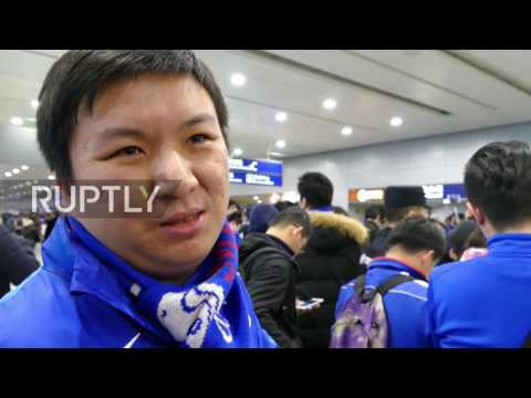 China: Shanghai Shenhua fans greet new pick Carlos Tevez at airport