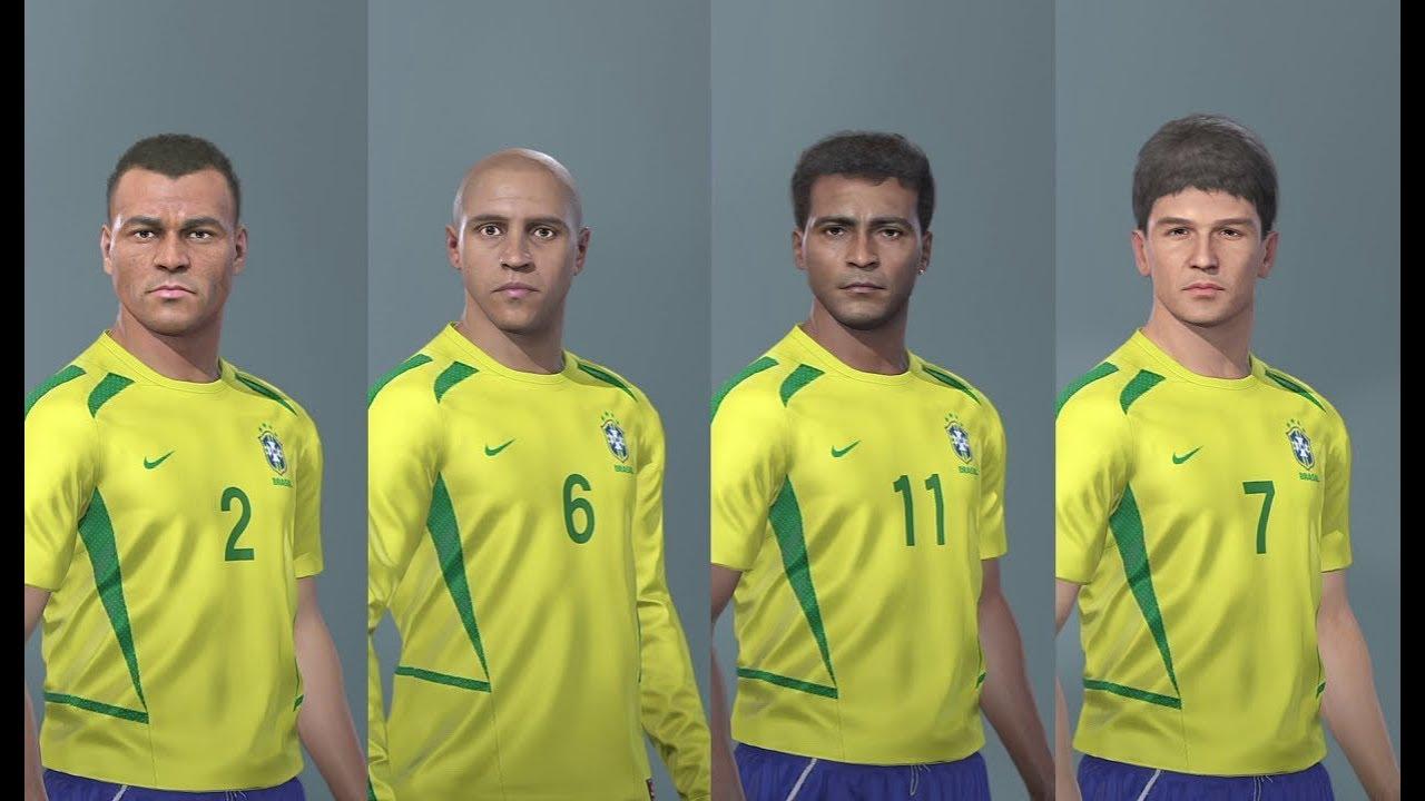 PES 2019 Brasil Brazil Legends Clássico Classic v1 Stats + LINK