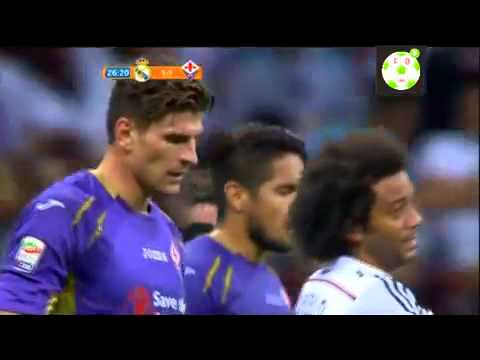 Goal M Gómez Fiorentina vs Real Madrid 2 1 All Goals and Highlights 16 8 2014