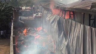Inyubako mu mujyi wa Kigali yahiye irakongoka. Video.