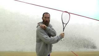 Squash Technique - Backhand Tip