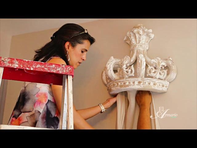 Decorando el dormitorio de la princesa de la casa.