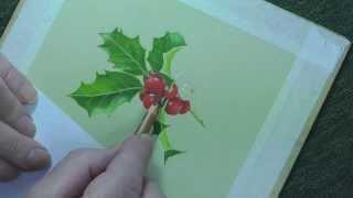 Holly & Berries in Pastel Pencils | Speed Painting