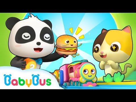 ★NEW★きしゃ お菓子を運ぶよ!どんなお菓子が入ってるかな?  赤ちゃんが喜ぶアニメ   動画   ベビーバス  BabyBus