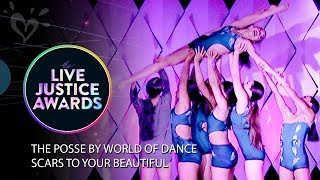 THE POSSE BY WORLD OF DANCE - SCARS TO YOUR BEAUTIFUL 💗 LIVE JUSTICE AWARDS