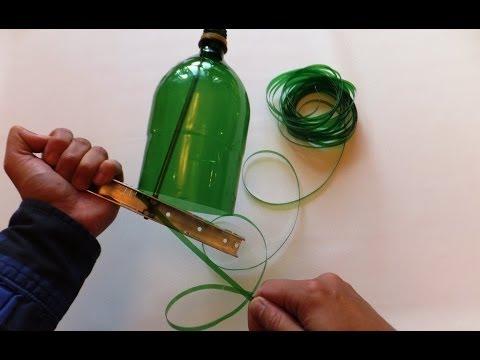 Как разрезать пластиковую бутылку на ленту