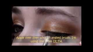 """Golden Volcano Eyeshadow"" ""Gold & Rust Eyeshadow Tutorial"" using ""Kat Von D"" & ""Prestige Cosmetics"" Thumbnail"