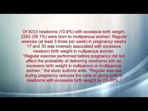 Regular Exercise During Pregnancy May Lower Risk for Excessive Birth Weight