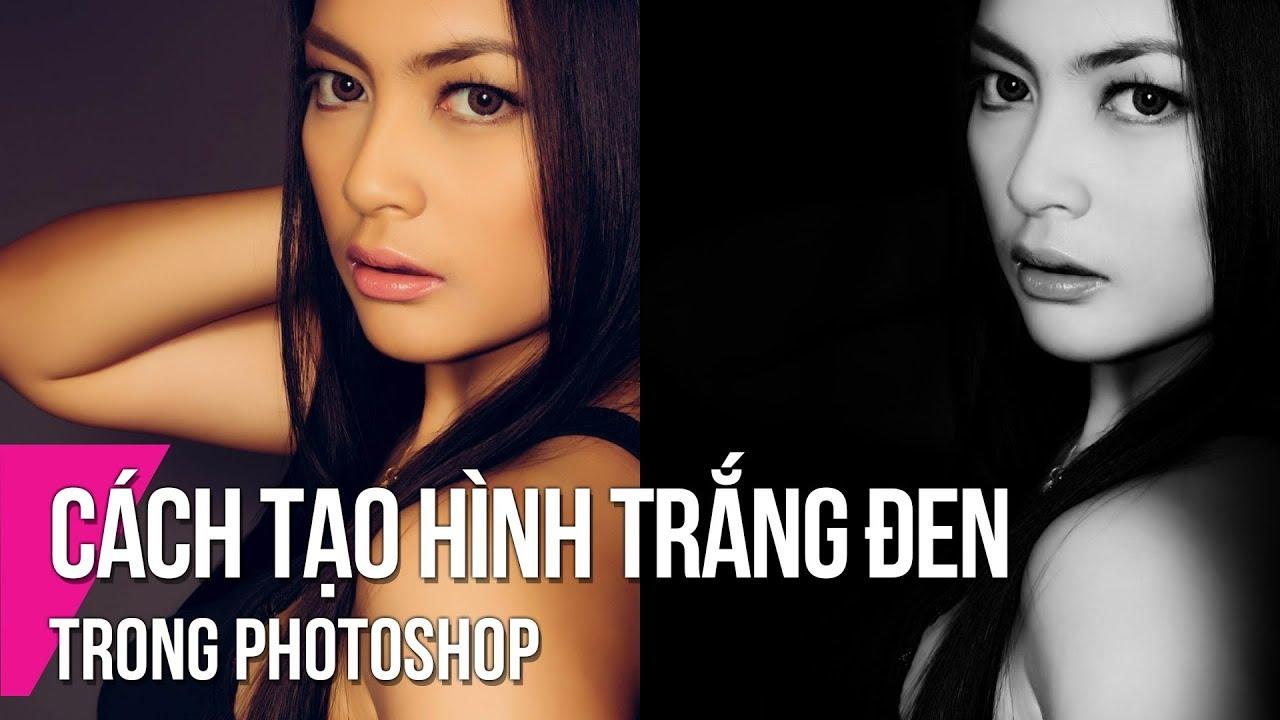 Make Black And White Portrait In Photoshop | Thuy Uyen Design