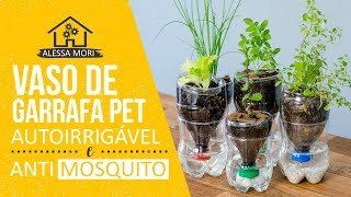 ⭐VASO AUTOIRRIGÁVEL ANTIDENGUE (ANTI-AEDES) COM GARRAFA PET - DIY