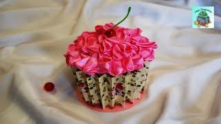КАК СДЕЛАТЬ ШКАТУЛКУ КАПКЕЙК ДЛЯ УКРАШЕНИЙ СВОИМИ РУКАМИ. Jewelery box capcake. (DIY, Handmade).