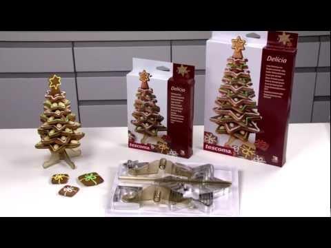 Vánoční stromeček malý a velký TESCOMA DELÍCIA, souprava vykrajovátek a stojánek