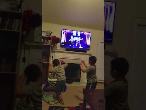 Dillon and Titus  dancing to animals, just dance 2018