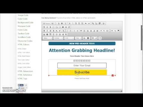 Editing Capture Pages With The Online HTML Editor