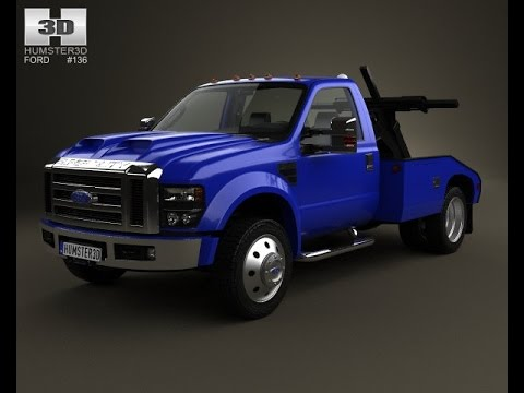 3D Model Ford Super Duty F550 Tow Truck with HQ interior 2 at 3DExport ...