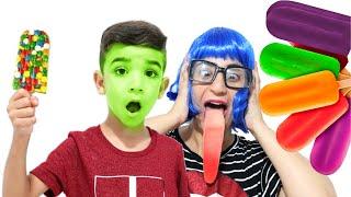 Lucas engana mamãe com a mágica dos sorvetes - Lucas Rocha Kids - Lucas rocha e família