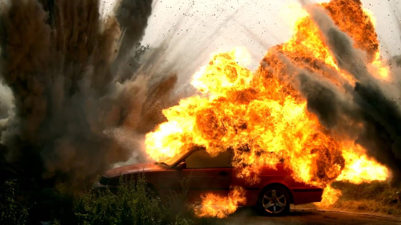 A Car Exploding In Slow Motion Sfx Project C Nfts 2017
