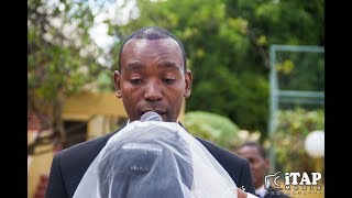 Groom cries and sings 'PERFECT' as his bride walks down the aisle