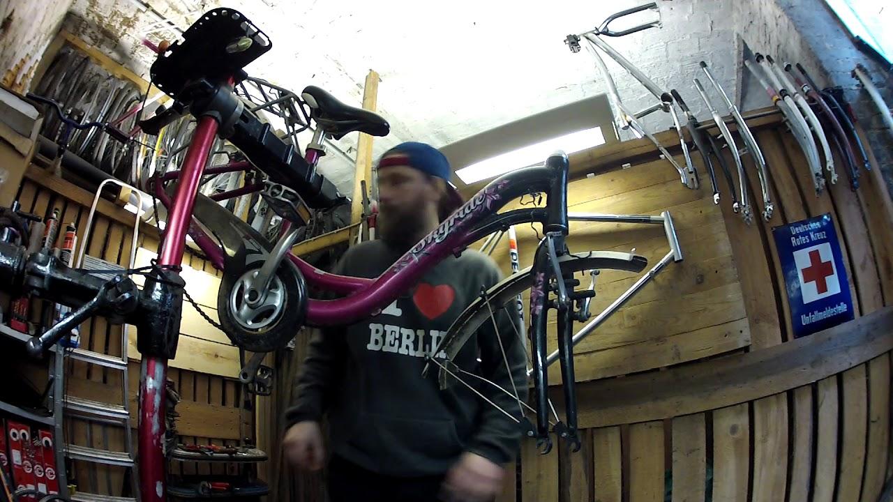 fahrrad zum lackieren vorbereiten alles zerlegen abkleben echtzeit teil 1 youtube. Black Bedroom Furniture Sets. Home Design Ideas