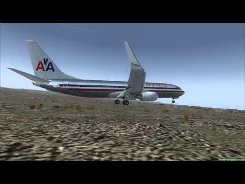 American Airlines 737-800 landing at Elko Nevada
