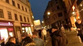 """Halle Saale, 12.10.15 Demonstrationen """"Wir sind das Volk"""" und """"Merkel muss weg"""", Teil 1"""