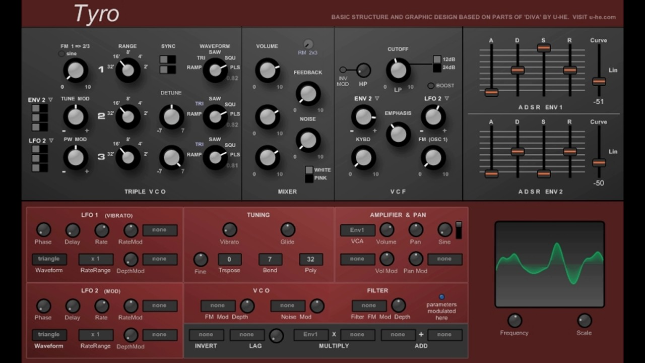 Free tyro u he diva synthesizer vst emulation youtube - U he diva ...