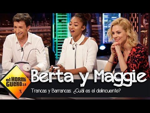 """Maggie Civantos y Berta Vázquez juegan a """"Deliencuentra al delincuente"""" - El Hormiguero 3.0"""