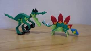 LaQ видео-урок птицы и динозавры.