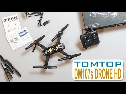 Unboxing Drone 40 Eur, DM107s  Cámara HD, FPV, WIFI + 360º | CUPON TTIN107S |