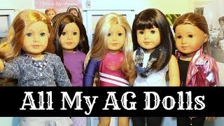 ALL MY AMERICAN GIRL DOLLS | ENTIRE COLLECTION | Adult Collector | Plus Birthday Doll