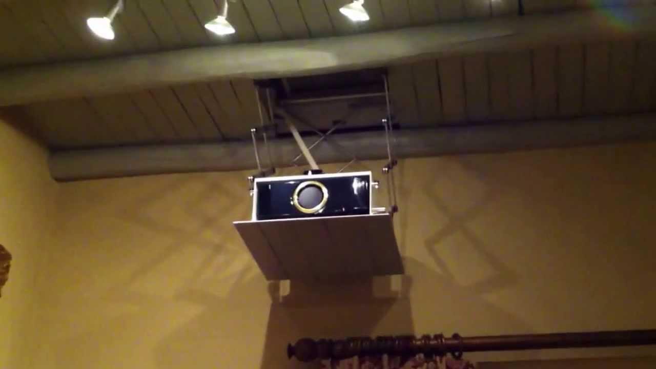 Proyector oculto en techo youtube - Soporte para proyectores techo ...
