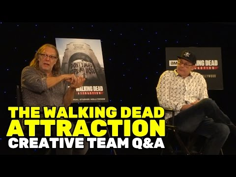The Walking Dead Attraction  Q&A with Greg Nicotero and John Murdy at Universal Studios Hollywood
