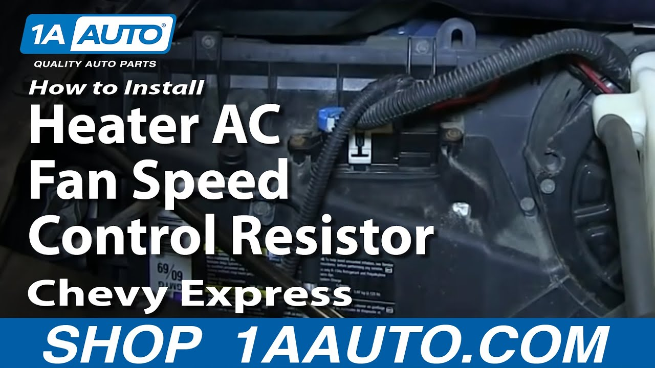 How To Install Replace Heater Ac Fan Speed Control Resistor 1997 13 2014 Gmc Sierra Rear Defroster Wiring Diagram Chevy Express Savana Youtube