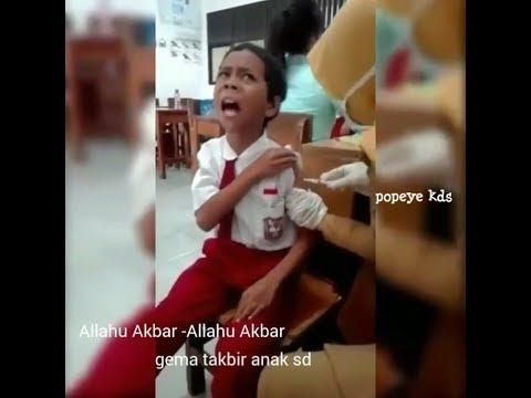Viral...!! GEMA TAKBIR ANAK SD SAAT DI SUNTIK