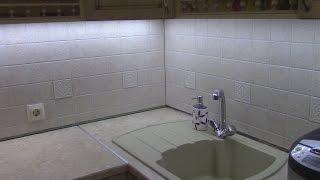 Часть 13. Корректировка розеток и плитка на кухонном фартуке. Мебель своими руками.#кухнямоеймечты