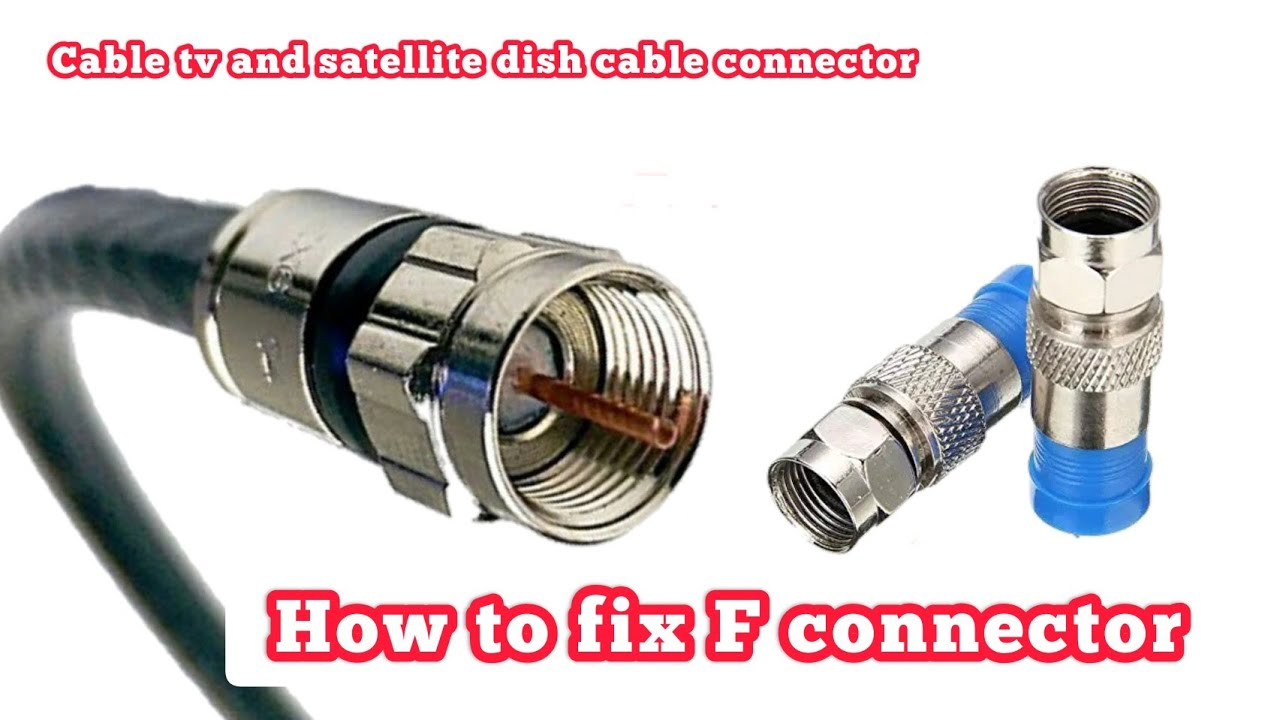 How To Install F Connector Rg6 Coax Cable Youtube