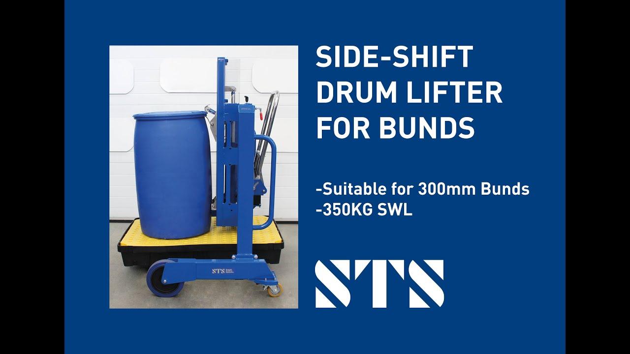 Side-Shift Drum Lifter for Bunds (Model: DTP04-1250-R500-B)