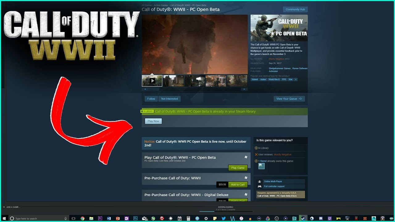 duty wwii beta call of download keys pc