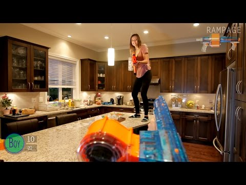 Thumbnail: Nerf War: BOY vs GIRL | First Person Shooter in 4K!