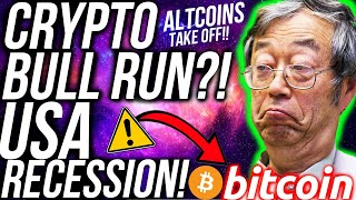 CRYPTO & BITCOIN BULLRUN!? USA IN RECESSION! STOCK MARKET SLUMP! Altcoins BULLISH!