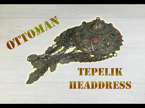 Antique Ottoman TEPELIK Silver Woman's Headdress Ornament 18 Century